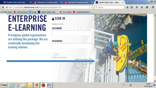 Capital Safety says its e-learning courses can cut time away from work and the cost of training
