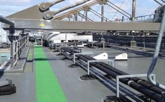 Mitie Roofing's refurbishment work at Heathrow Terminal 3 used Icopal's Elastoflex Waterproofing to win the Liquid Roofing and Waterproofing category at the UK Roofing Awards, 2015