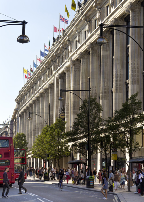 Prater will carry out renovations on several roof areas at London's Selfridges department store