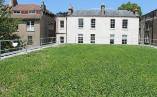 The combination of Alumasc's BluRoof and Blackdown green roof systems at the new University of Bristol Lecture Theatre