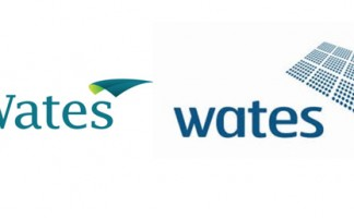 The new logo for Wates (left) updates the Group's look from its previous logo (right)