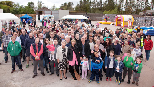 Russell Roof Tiles' staff enjoyed a special family fun day at the company's Lochmaben factory