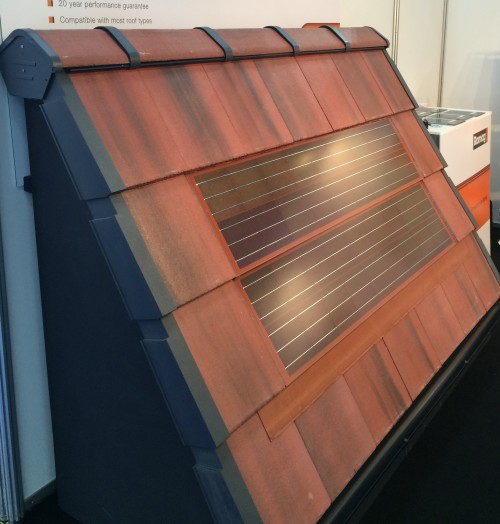 Intecto integrated solar PV tile from Romag