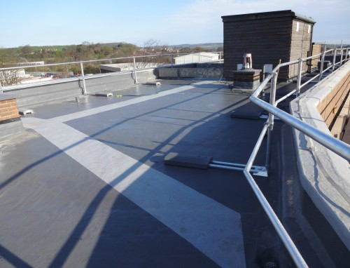 The roof of the York NHS Trust headquarters, with Sika Liquid Plastics' Decothane Ultra