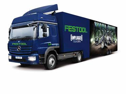 Festool's Unplugged truck will travel around the UK between September 1 and October 3