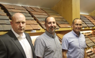 Left to right: Chris King, Chris Sharman and Ian Donegan of Elliots Premier Roofing