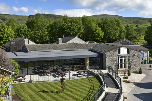 Protan's SE1.2mm dark grey membrane used to extend the Hollowford Centre for the Lindley Educational Trust