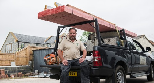 Paul Trebble with his L200 fitted with the Invis-a-rack