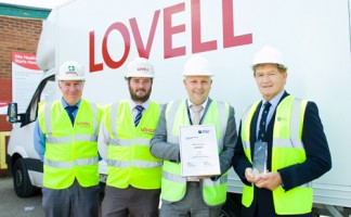 Pictured left to right: Lovell project manager Graham Stansfield, health and safety manager Matthew Jarvis, Hull City Council programme manager Karl Whitehead and Councillor John Black, Hull City Council portfolio holder for council infrastructure.