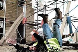 Images like those seen during the HSE's Shattered Lives campaign illustrate the dangers faced by construction workers