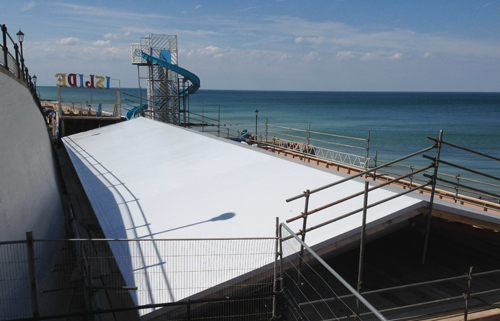 Dune Amusements was the first project in the country to use Sika Sarnafil's new Self Adhered roofing membrane, which offers high durability to the elements and quick installation time
