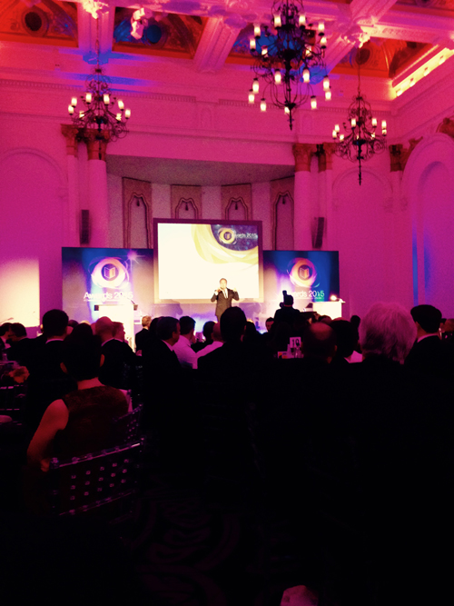 Hal Cruttenden from TV's Live at the Apollo and Mock the Week, entertained guests at the 2015 INCA Awards