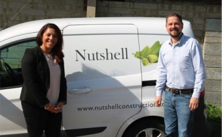 Analiese Doctrove from Rockinghorse with Ben Copper, director of Nutshell Construction