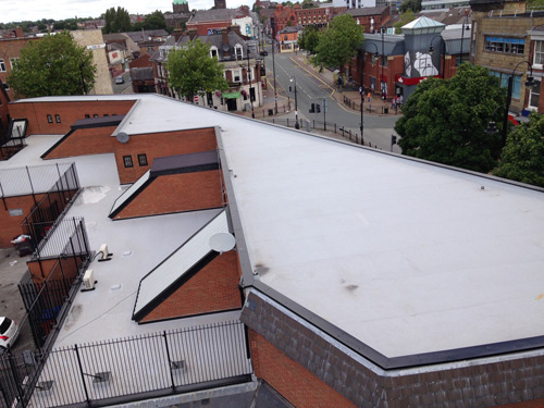The unusual roof layout on Ormskirk Street, St Helens