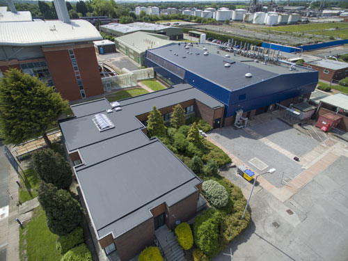 WOLFIN's GWSK Self-Adhesive Polymeric PVC was chosen for the refurbishment of The High Growth Centre, Thornton