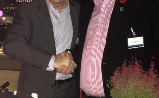 Dave Maginnis, managing director of BriggsAmasco, with Andy Williamson, managing director of IKO