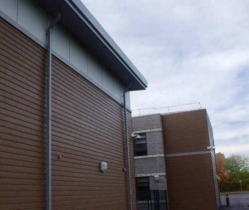 Marley Eternit's fibre cement cladding solution was installed by Fowler McKenzie