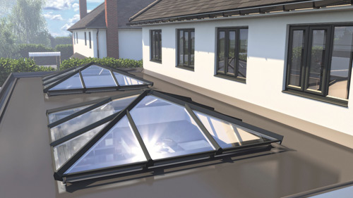 Skypod can be used by installers and homeowners for extensions, orangeries, new build kitchen-diners and garage conversions