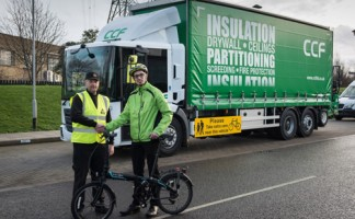 Local cyclists welcome the new CCF Econic vehicles