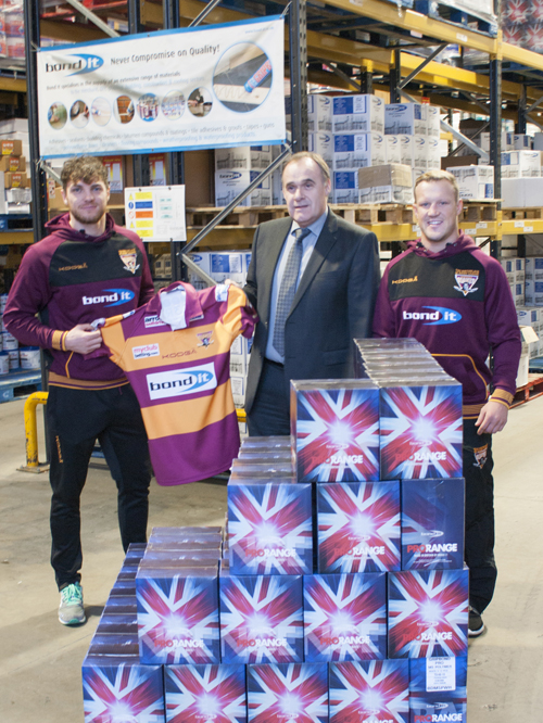 L-R: Scott Grix, full-back, Huddersfield Giants, David Moore,