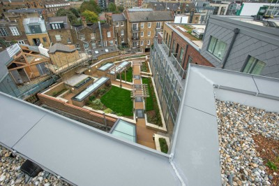 London Square development, Bermondsey Village, showcases a green roof solution made possible through Sika Sarnafil's partnership with Sky Garden and Contour Roofing