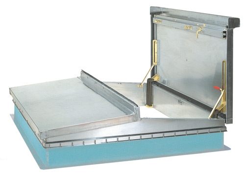 The Bilco D-50T roof access hatch is available in a range of sizes to suit various applications