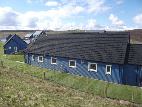 Icopal's Decra Stratos tiles were used on 26 new build properties in Shetland