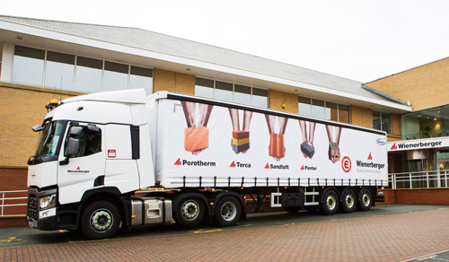 Wienerberger's new branded trucks will be taking to the roads in 2016