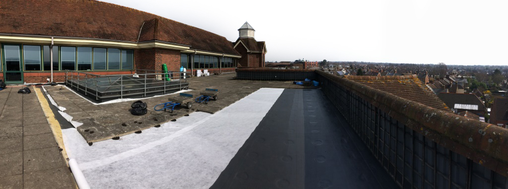 Roofing contractor All Angles Roofing carried out the six-week project on behalf of principal contractor RCL Services including repairs to the existing insulation