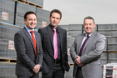 (L-R) Alan Young, regional sales director North & Scotland, James Pendleton, regional sales director Midlands & South West and Paul Mcloughlin, Mid Counties & Southern sales director