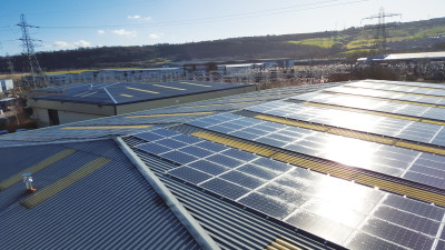 542 solar panels have been installed on the roof of Bond It's West Yorkshire factory