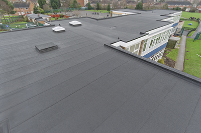 The Alumasc waterproofing system-protected roof at Brownmead Primary Academy