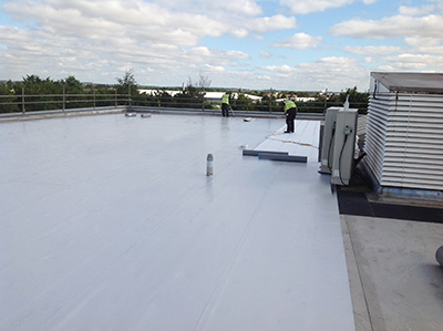 Fossil, Milton Keynes. This project was used as the application for Sika-Trocal to extend its BBA durability statement. The Sika-Trocal roof on this project was in perfect functional condition more than 30 years later, but Fossil opted to have a new roof system installed directly on top of the existing membrane
