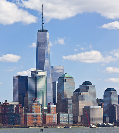 Nearly 75% of One World Trade Centre is made from recycled or eco-friendly building materials