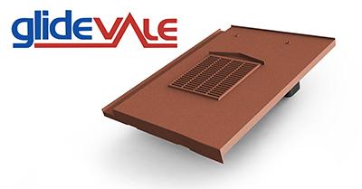 Glidevale's universal in-line flat interlocking tile ventilator