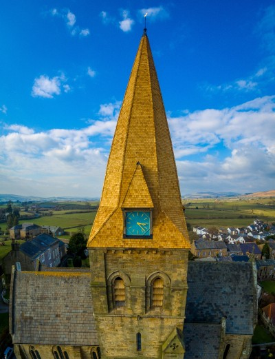 More than 150 bundles of JB Shingles and proprietary JB ShingleFix were required for the restoration of the Grade II listed church in North Yorkshire