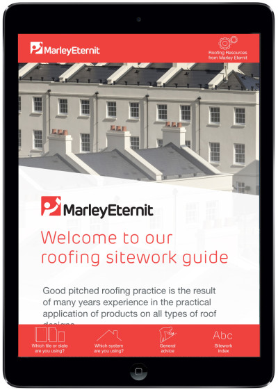 The new Marley Eternit Roofing Sitework Guide app is available to download for free from Google Play or iTunes