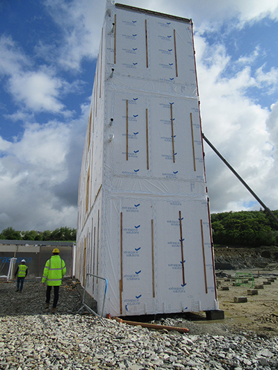 DuPont Tyvek membranes wrap a new office block project for Pramerica by Extraspace Solutions in Donegal