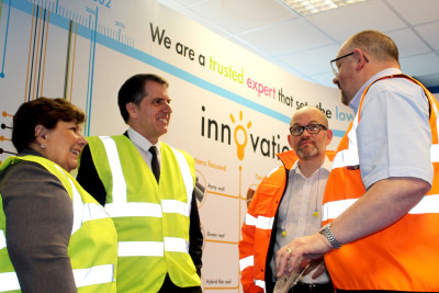 KNAUF INSULATION WELCOMES LOCAL MPs TO ST  HELENS PLANT