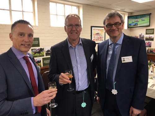 (L-R) Willmott Dixon Midlands commercial director Steve Keach, IKO Polymeric business manager Mark Miles, IKO Polymeric key account manager