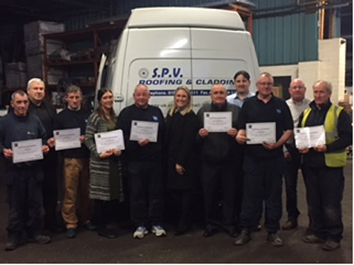 10 members of the SPV team have received certificates and vouchers