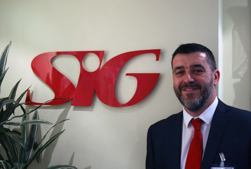 David Arendell, the new national sales director for merchants at SIG Roofing