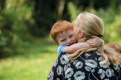 Young cancer survivor Luke Ross and his mother Jess Lusher