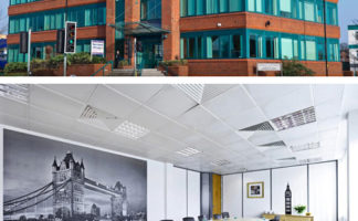 Longworth's new office in Slough, inside and out