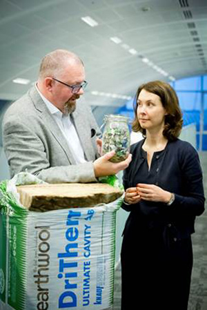 (L-R) John Sinfield, MD of Knauf Insulation and Estelle Brachlianoff, senior executive VP at Veolia UK & Ireland