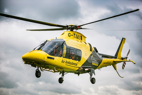 The DLRAA is Eurocell's own local airborne paramedic service with two regional air ambulances that fly across the counties of Derbyshire, Leicestershire & Rutland