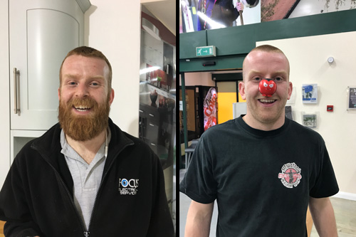 Lewis Benson before and after the shave