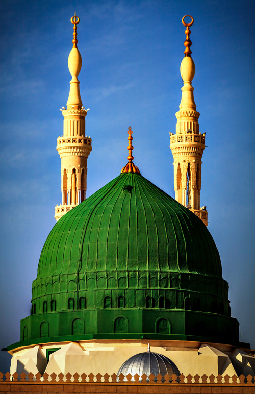 The original Green Dome sat atop the tomb of the Islamic Prophet, Muhammad