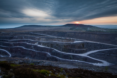 View over the quarry in Bethesda near Bangor, North Wales