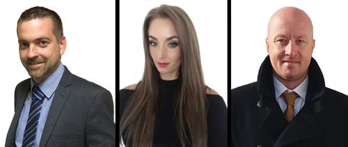 (L-R) Ben Harmar, Sophia Jelaca and Martin Wood